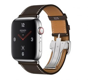 Apple Watch Hermès - Stainless Steel Case with Ébène Barenia Leather Single Tour Deployment Buckle