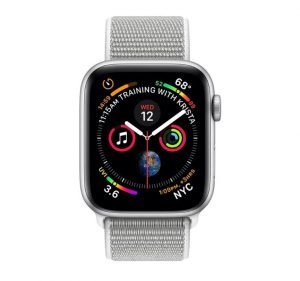 Apple Watch Series 4  - Silver Aluminum Case with Seashell Sport Loop