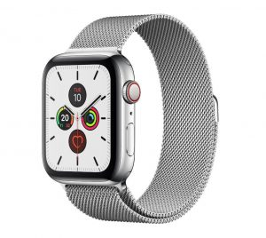 Apple Watch Series 4  - Stainless Steel Case with Milanese Loop