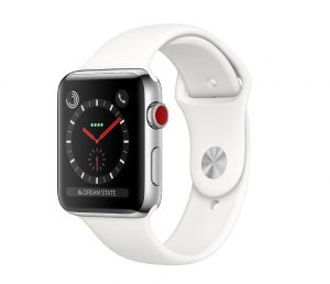 Apple Watch Series 4  - Stainless Steel Case with White Sport Band