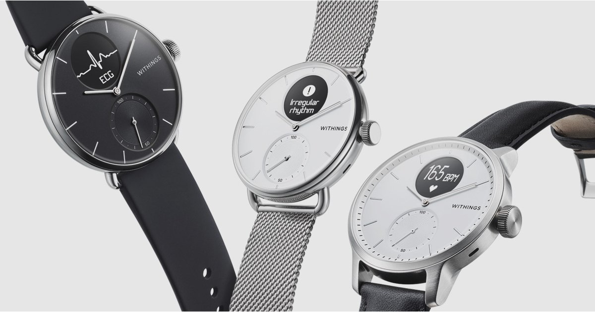 Withings launches brand-new ScanWatch with ECG as well as innovative heart functions