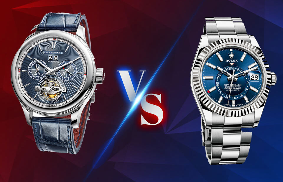 Chopard watch VS Rolex watch