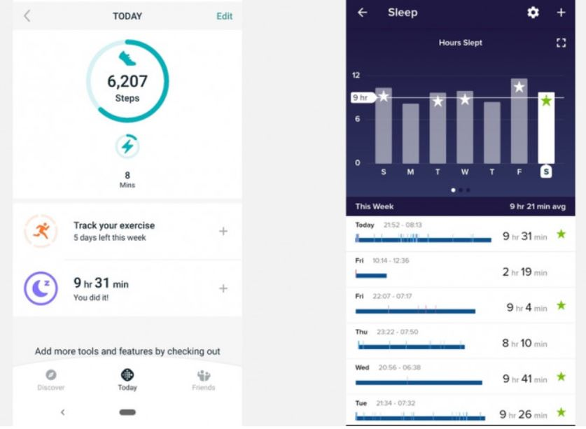 Fitbit Ace 2: Fitness tracking