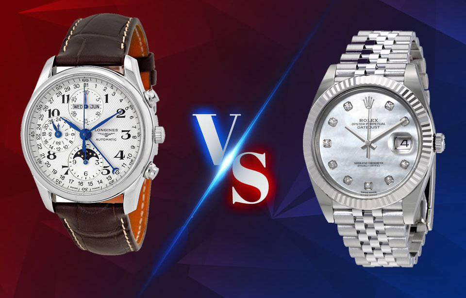 Longines VS Rolex watches