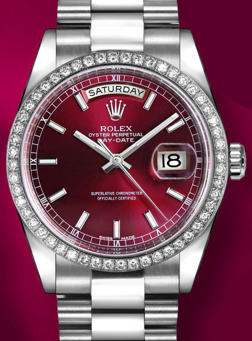 Rolex 118346 Cherry Index President