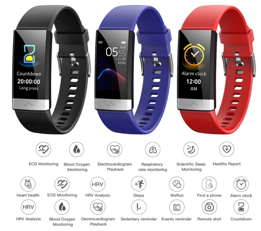 V19 HR ECG + PPG Dual smart watch