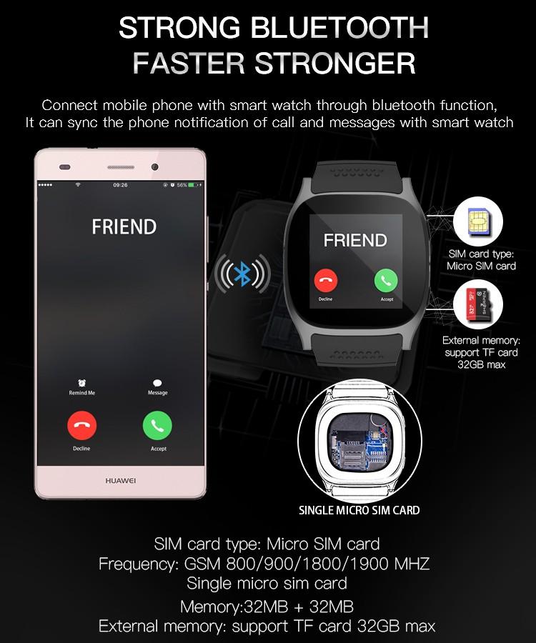 t8 smart watch fast bluetooth