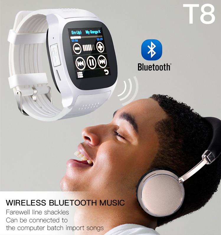 t8 smart watch wireless music
