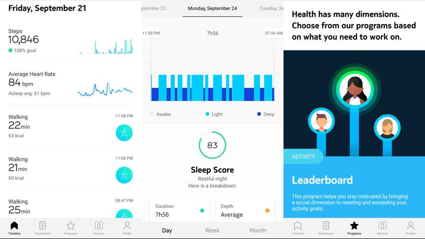 Withings Sleep data example
