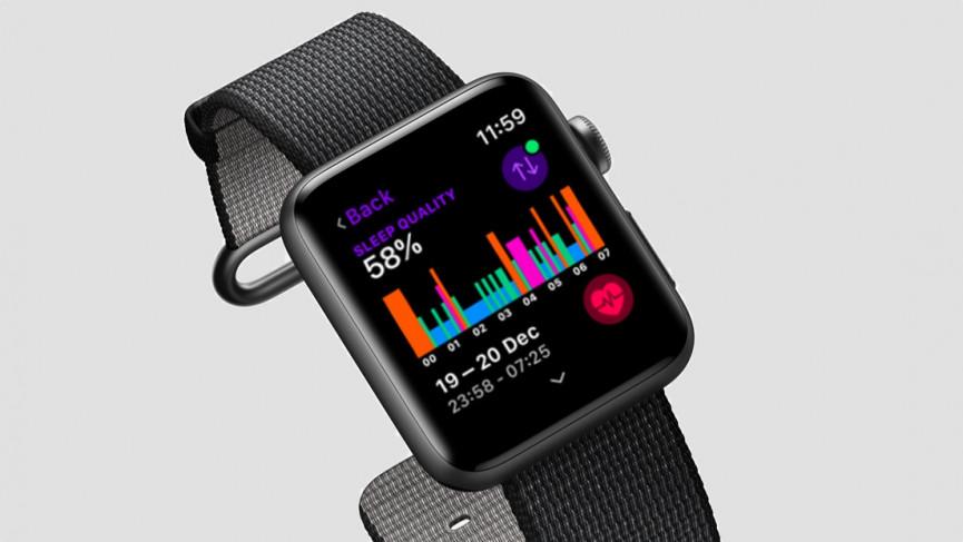 Apple Watch Series 3 with sleep app