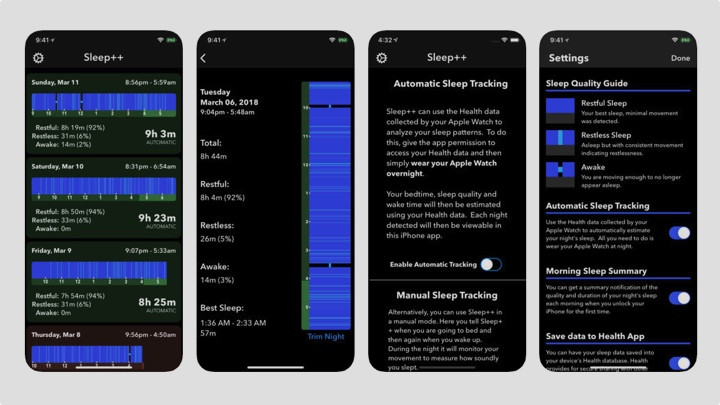 Sleep data Apple Watch