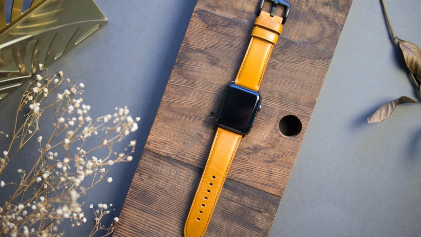 Best Apple Watch bands premium tan leather band